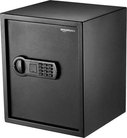 AmazonBasics Home Keypad Safe - 1.52 Cubic Feet, 13.8 x 13 x 16.5 Inches, Black - 42SAM