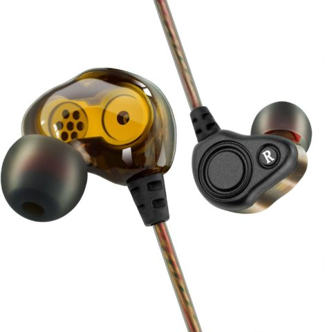 BYGZB Earphones Wired with Mic Noise Cancelling in Ear Headphones Earbuds High Resolution Heavy Bass