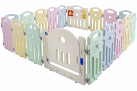 Baby Playpen Playard for Babies Infants Toddler 18 Panels Safety Kids Play Pens Indoor Baby Fence with Activity Board