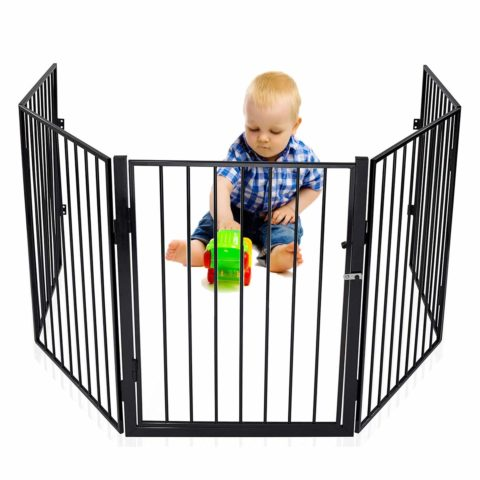 Baby Safety Gate Fireplace Fence