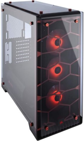 CORSAIR Crystal 570X RGB Mid-Tower Case, 3 RGB Fans, Tempered Glass - Red (CC-9011111-WW)