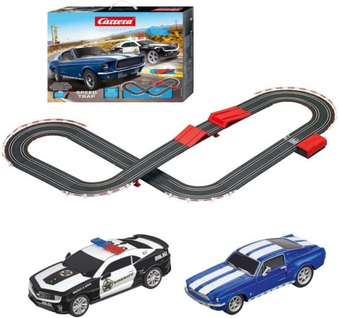 Carrera 63504 Speed Trap Battery Operated 1 43 Scale Slot Car Racing Track Set with Jump Ramp
