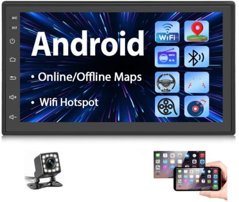 Double Din Android Car Stereo Radio with Bluetooth GPS 7 Inch HD Touchscreen