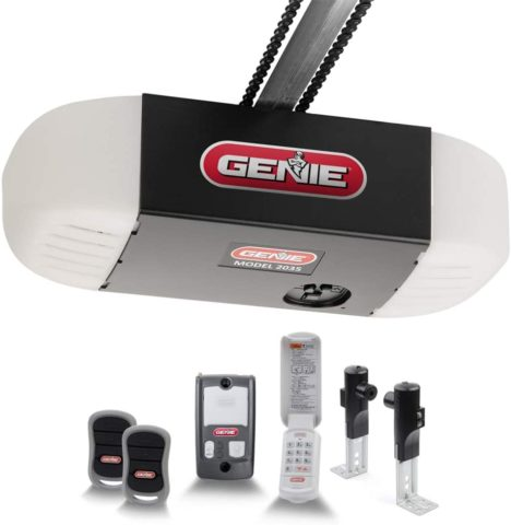 Genie ChainDrive 550 Garage Door Opener - Heavy-Duty Chain Drive System - Includes 2, 3-Button Remotes, Wall Console, Wireless Keypad, Safe T-Beams - Model 2035-TKV,Black