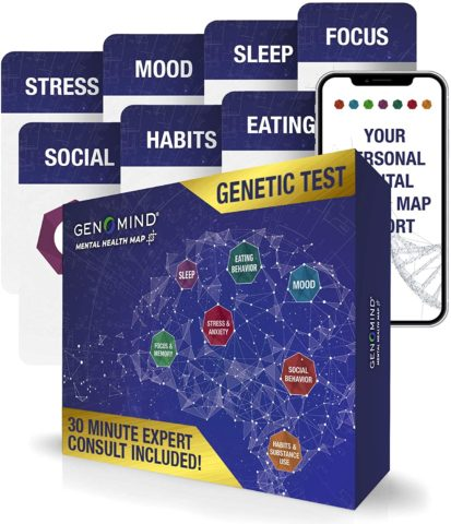 Genomind Mental Health MapDNA Test for Genetic Mental Health and Wellness Insights