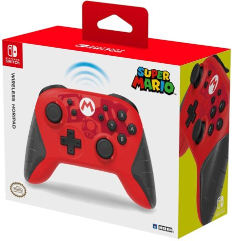 HORI Nintendo Switch Wireless HORIPAD Mario Edition Rechargeable Controller - Nintendo Switch