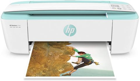HP DeskJet 3755 Compact All-in-One Wireless Printer, HP Instant Ink, Works with Alexa - Seagrass Accent (J9V92A)