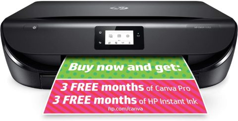 HP ENVY 5055 Wireless All-in-One Photo Printer, HP Instant Ink, Works with Alexa (M2U85A)
