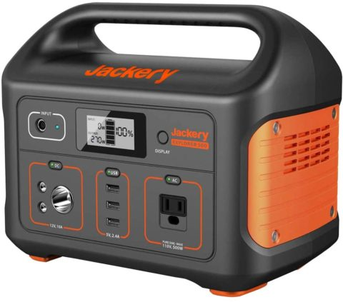 Jackery Portable Power Station Explorer 500, 518Wh Outdoor Solar Generator Mobile Lithium Battery Pack with 110V500W AC Outlet (Solar Panel Optional) for Road Trip Camping, Outdoor Adventure