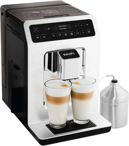 KRUPS EA89 Deluxe One-Touch Super Automatic Espresso and Cappuccino Machine, 15 Fully Customizable Drinks,Gray