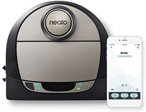 Neato Robotics D7 Connected Laser Guided Robot Vacuum Featuring Multiple Floor Plan Mapping and Zone Cleaning,
