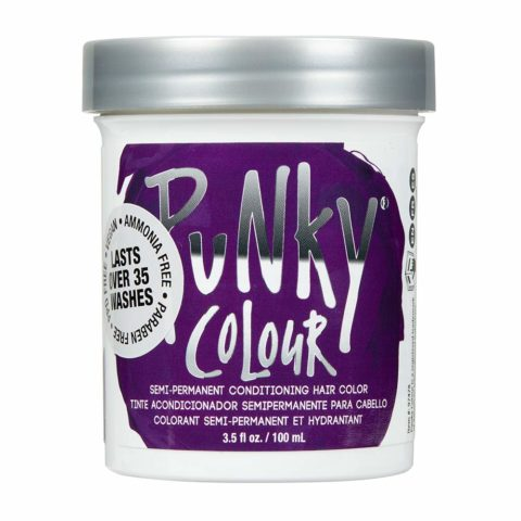 Punky Purple Semi Permanent Conditioning Hair Color, Vegan, PPD and Paraben Free, lasts up to 25 washes, 3.5oz