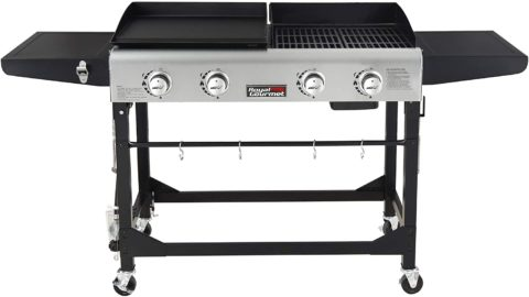 Royal Gourmet GD401 Portable Propane Gas Grill and Griddle Combo,4-Burner