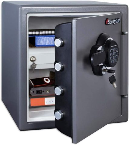 SentrySafe SFW123GDC Fireproof Safe and Waterproof Safe with Digital Keypad 1.23 Cubic Feet, Gun Metal Grey