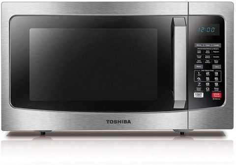 Toshiba EC042A5C-SS Countertop Microwave Oven with Convection, Smart Sensor, Sound Function and LCD Display, 1.5 Cu.ft, Stainless Steel