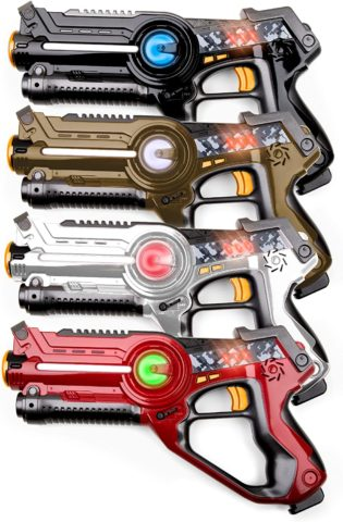 USA Toyz Laser Tag Toy Guns for Boys and Girls - 4pk Kids Toys Multiplayer Shooting Game Lazer Tag Set 4 Laser Tag Guns for Kids and Adults