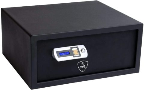 Verifi Smart.Safe. Biometric Gun Safe with FBI Certified Fingerprint Sensor, LED Light, Self-Diagnostics, Tamper Alerts and AutoLock