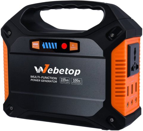 Webetop 155Wh 42000mAh Portable Generator Inverter Battery 100W Camping Emergency Home Use UPS Power Source Charged