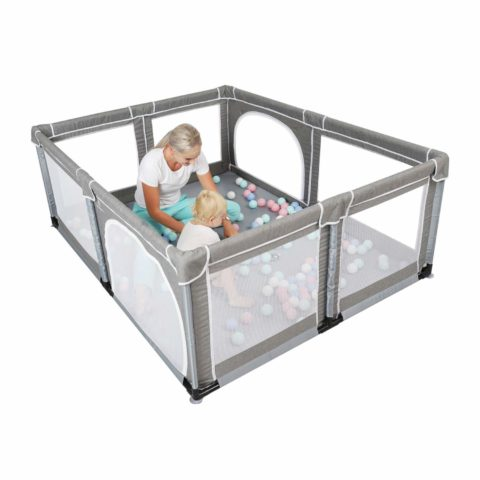 Yobest Baby Playpen, Extra Large Playyard for Babies, Indoor Baby Play Yard, Sturdy Safety Baby Fence Play Area Center with Gate, Giant Play Fence for Toddlers, Kids, Twins, Child, Infants