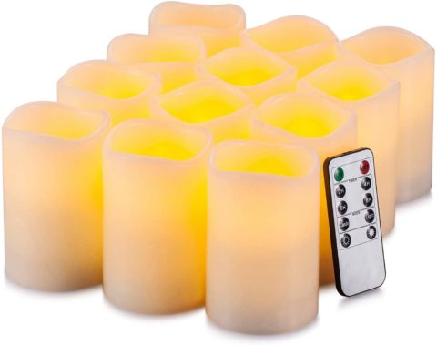 Yutime Flameless Candle Set of 12