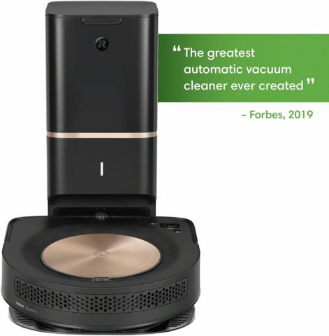 iRobot Roomba s9+ (9550) Robot Vacuum with Automatic Dirt Disposal- Empties itself, Wi-Fi Connected, Smart Mapping, Powerful Suction, Anti-Allergen System, Corners & Edges, Ideal for Pet Hair, black